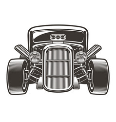 hot rod in full face vector image