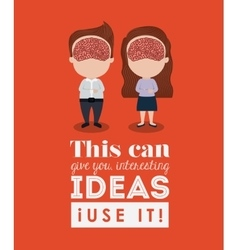 human brain design vector image