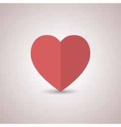 Icon heart vector image