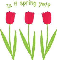 Is It Spring vector