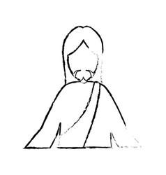 Jesuschrist face cartoon vector
