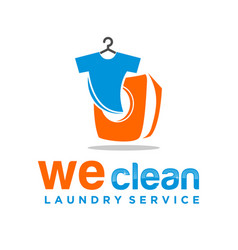 Laundry service washing machine with t-shirt vector