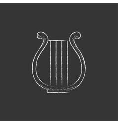 Lyre Drawn in chalk icon vector image