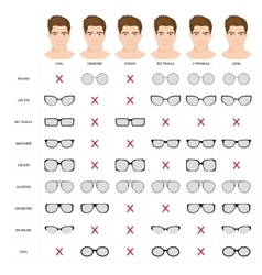 man sunglasses shapes 5 vector image