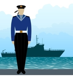 Military uniform navy sailor-3 vector