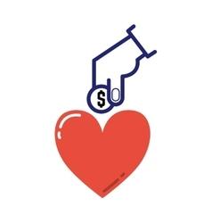 Money donation icon vector