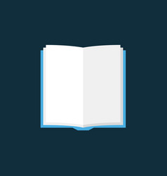 open book flat icon on dark background vector image
