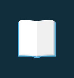 Open book flat icon on dark background vector