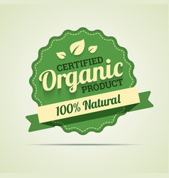 Organic product badge vector