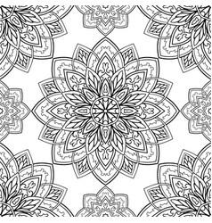 oriental black and white ornament vector image