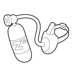 Oxygen mask icon outline style vector