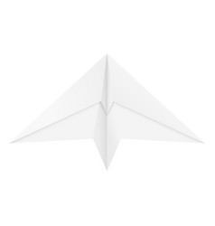 Paper airplane folded glider vector