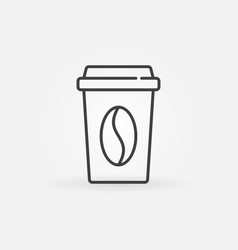 Paper coffee cup concept icon in thin line vector