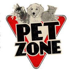 Pet zone vintage rusty metal sign vector