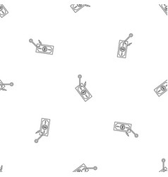 Phishing money pattern seamless vector