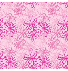 Pink flowers seamless 380 vector