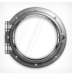 Porthole seascape on white vector
