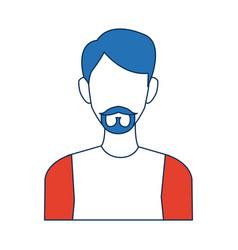 portrait man young person cartoon vector image