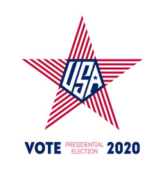 presidential election 2020 in usa election voting vector image