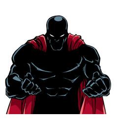 Raging superhero silhouette vector