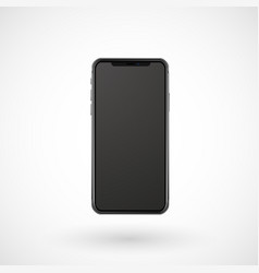 realistic mobile phone with black screen vector image