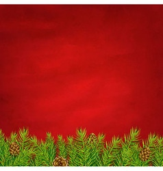 Retro Red Background And Fir Tree vector