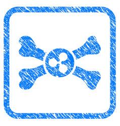 ripple death framed stamp vector image