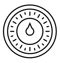 round retro timer icon outline style vector image
