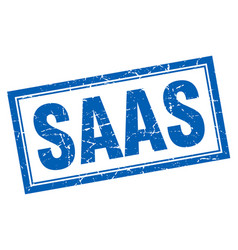 Saas square stamp vector