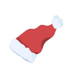 santa claus hat flat festive vector image