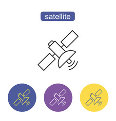 satellite line icon vector image
