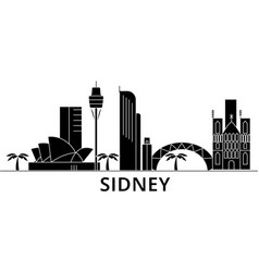 Sidney architecture city skyline travel vector