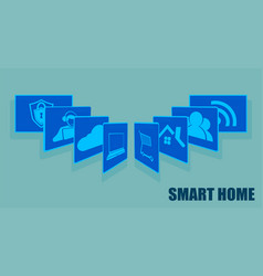 Sign the card fansmart home set vector