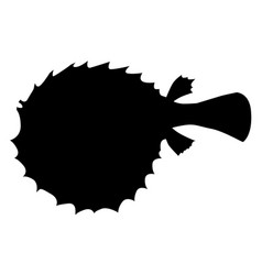 silhouette of fish-hedgehog vector image