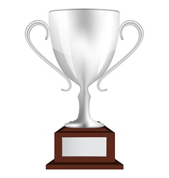 Silver winners cup vector image