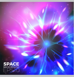Space background with bright lights of plan vector