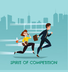 spirit of competition urban poster vector image
