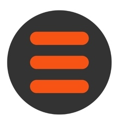 Stack flat orange and gray colors round button vector