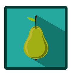 symbol pear icon image vector image