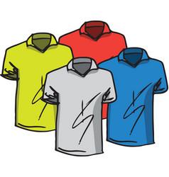 T-shirts templates vector