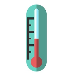 Thermometer isolated flat style vector image