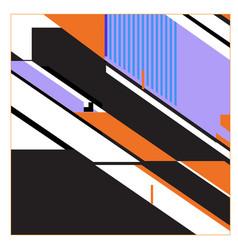 Trendy geometric elements memphis pattern retro vector