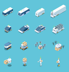 unmanned vehicles icons collection vector image