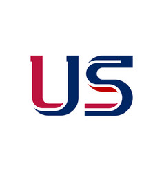 Us - abbreviation united states america vector