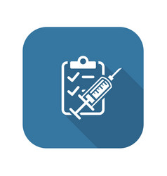vaccination and medical services icon vector image