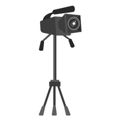 video camera on the tripod vector image