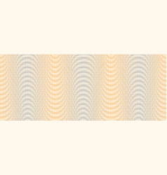 wave from halftone dots in vintage pop art style vector image