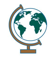 world earth globe vector image