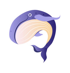 cachalot or sperm whale sea creature colorful vector image