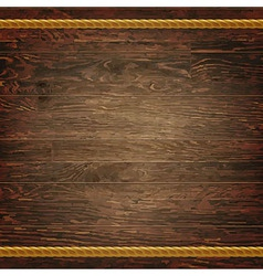 Dark Wood Texture With Rope vector image
